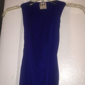 Haute Hippie silk Royal Blue short dress